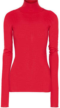 Joseph Merino Wool Turtleneck Sweater - Claret
