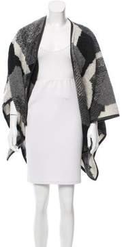 BCBGMAXAZRIA Patterned Wool Shawl