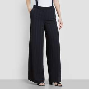 Kenneth Cole New York Satin Stripe Wide Leg Suspender Trouser