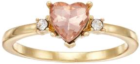 Lauren Conrad Simulated Crystal Heart Ring