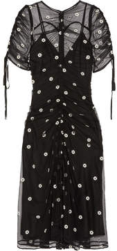 Alice McCall Garden Party Embroidered Tulle Midi Dress - Black