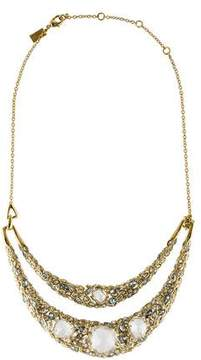Alexis Bittar Two Row Crystal Collar Necklace