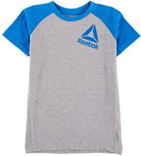 Reebok Little Boys Heather Tilted Logo T-Shirt