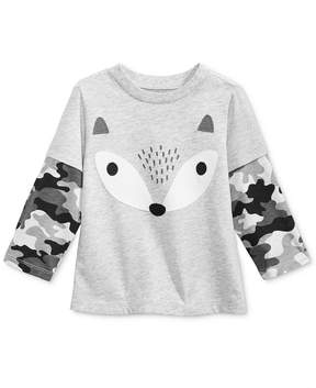 First Impressions Layered-Look Fox T-Shirt, Baby Boys (0-24 months), Created for Macy's