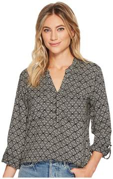 Angie Long Sleeve Button Front Top Women's Clothing