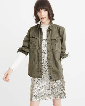 Abercrombie & Fitch Twill Military Shirt