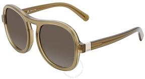Chloé Green Gradient Square Sunglasses