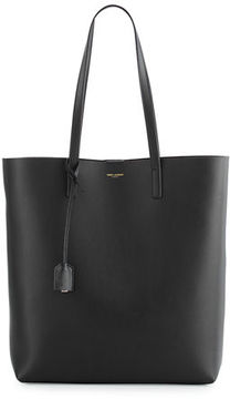 Saint Laurent Medium North-South Shopping Tote Bag - GRAY - STYLE