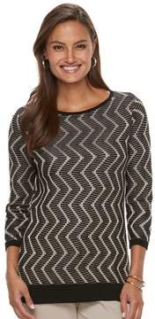 Dana Buchman Women's Zigzag Sweater