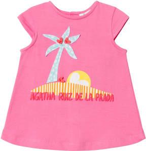 Agatha Ruiz De La Prada Pink Palm Tree Print Dress