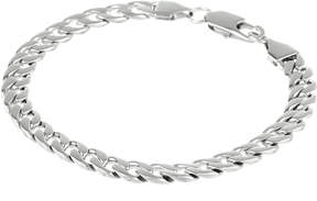 JCPenney FINE JEWELRY Mens Stainless Steel 8 5mm Curb Bracelet