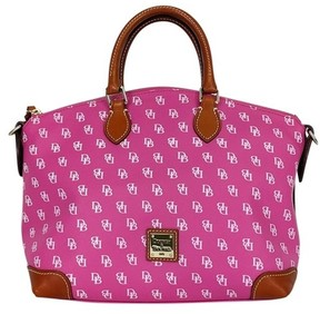 Dooney & Bourke Pink Monogram Satchel - PINK - STYLE