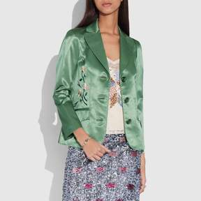 Coach New YorkCoach Satin Tailored Jacket