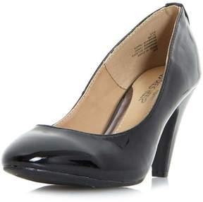 Head Over Heels *Head Over Heels by Dune Black 'Ava' Mid Heel Court Shoes