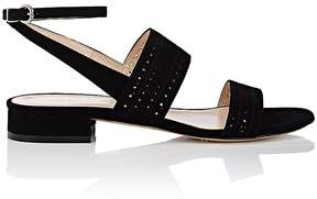 Barneys New York Women's Perforated Suede Double-Band Sandals