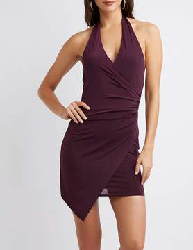 Charlotte Russe Halter Wrap Bodycon Dress