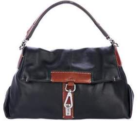 Tumi Leather Flap Handle Bag