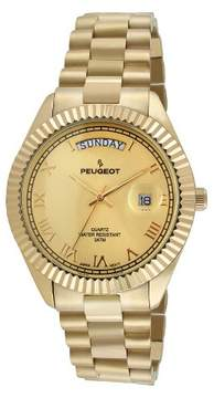Peugeot Watches Men's Coin Edge Bezel Bracelet Watch - Gold