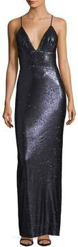 ABS by Allen Schwartz Women's Sequin Back Vent Gown