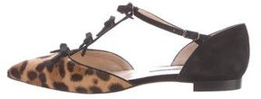 Oscar de la Renta Leopard Pointed-Toe Flats