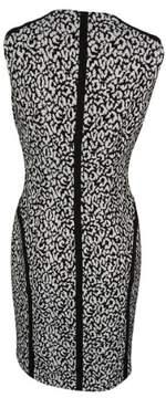 Calvin Klein Women's Sleeveless Printed Zip-Front Dress