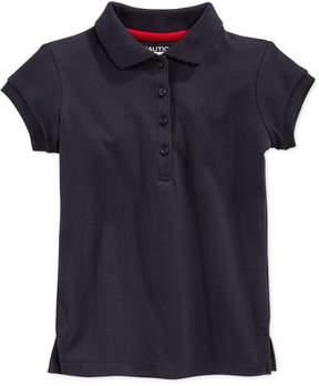Nautica School Uniform Polo, Little Girls (4-6X)