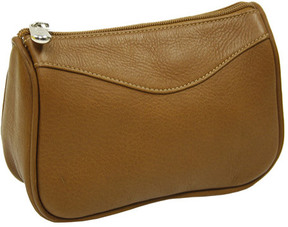 Piel Women's Leather Carry-All Zip Pouch 2845