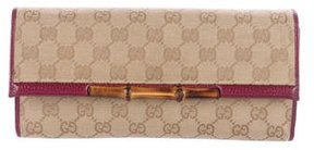 Gucci GG Canvas Bamboo Wallet On Chain - NEUTRALS - STYLE