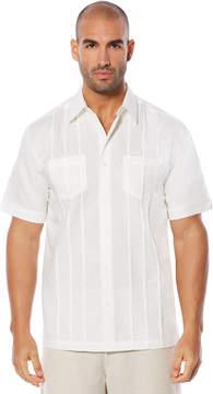 Cubavera Big & Tall Cross Dye Tuck Embroidered Shirt