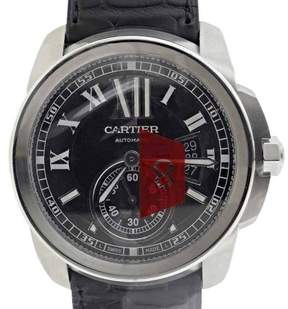 Cartier Calibre Stainless Steel Automatic Mens Watch
