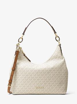 Michael Kors Isabella Large Logo Shoulder Bag - NATURAL - STYLE