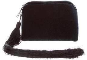 The Row Tassel-Embellished Velvet Clutch