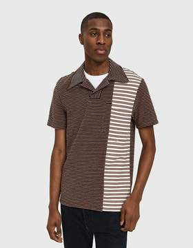 Maison Margiela Striped Terry Polo