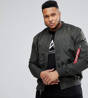 Alpha Industries PLUS MA-1 TT Bomber Jacket in Rep Gray