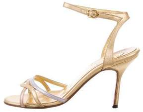 Christian Louboutin Metallic Ankle Strap Sandals