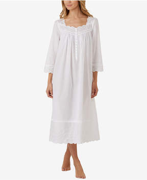 Eileen West Cotton Embroidered Ballet-Length Nightgown