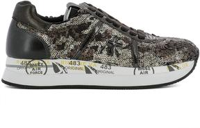 Premiata Brown Leather Sneakers