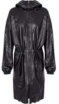Belstaff Leather Hooded Jacket