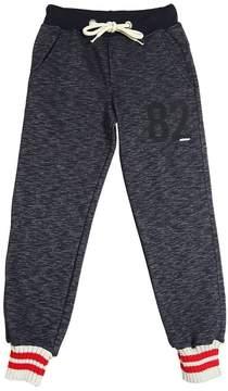 Fred Mello Cotton Sweatpants W/ Striped Cuffs