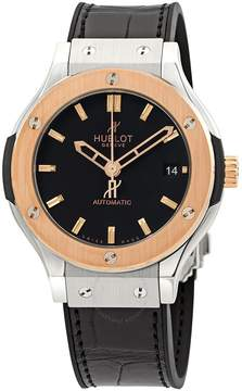 Hublot Classic Fusion Black Dial Automatic Black Alligator Rubber Watch