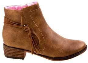 KensieGirl Kids' Fringe Ankle Boot Pre/Grade School