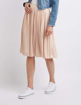 Charlotte Russe Metallic Pleated Midi Skirt
