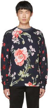 McQ Navy Thrift Store Florals Sweater