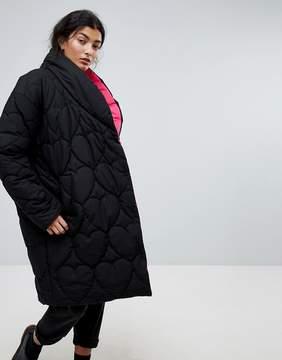 Lazy Oaf Oversized Padded Jacket With Contrast Lining
