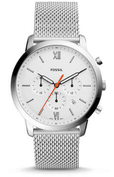 Fossil Neutra Chronograph Stainless Steel Leather Watch
