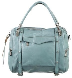 Rebecca Minkoff Leather Cupid Satchel - BLUE - STYLE