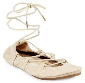Yosi Samra Leather Dress Ballet Flats