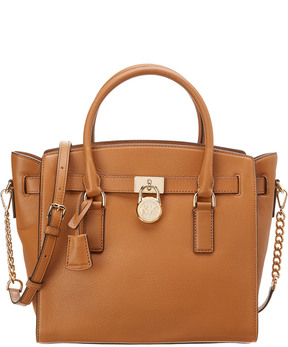 MICHAEL Michael Kors Hamilton Large Leather Satchel - ONE COLOR - STYLE