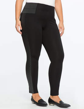 ELOQUII Miracle Flawless Quilted Side Stripe Legging