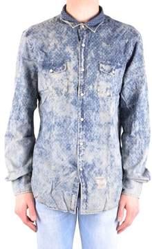 Fred Mello Men's Blue Cotton Shirt.